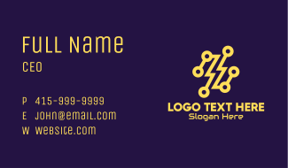 Yellow Thunder Tech Business Card