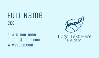 Natural Spine Treatment Business Card