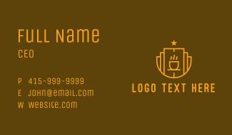 Star Coffee Shop Business Card
