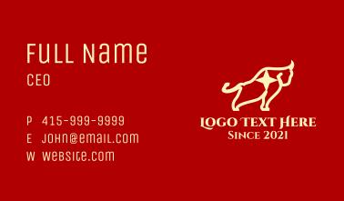 Yellow Star Bull  Business Card