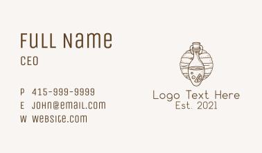 Brown Kombucha Fermentation  Business Card