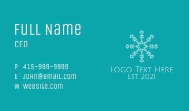 White Star Snowflake Business Card