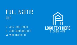 Simple Letter E House Business Card