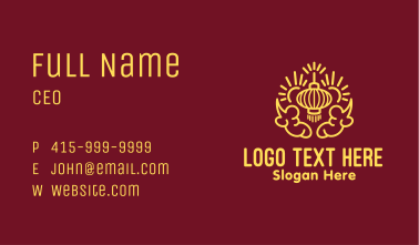 Asian Lantern Decoration Business Card
