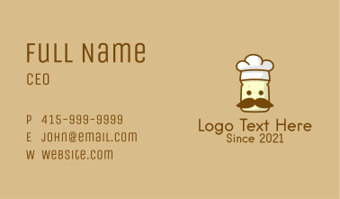 Toast Bread Chef  Business Card
