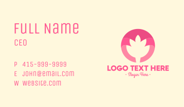Pink Flower Bud Business Card