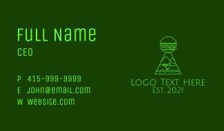Neon Green Chicken Burger  Business Card