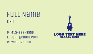 Happy Guitar Player Business Card