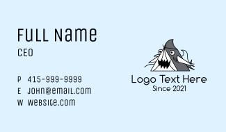 Cartoon Shark Tent Business Card