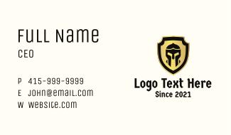 Gladiator Helmet Shield  Business Card