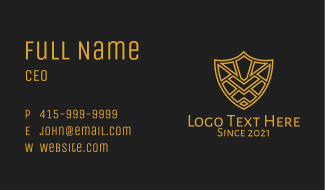 Gold Shield Armor Business Card