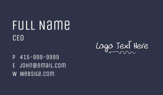 Linear Doodle Wordmark Business Card