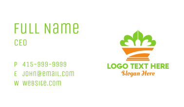 Green Crown Plant Business Card