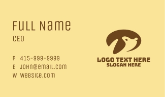 Brown Dog Veterinary Business Card
