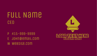 Yellow Glowing Gaming Letter Business Card