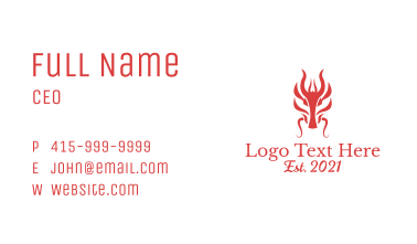Red Mythical Dragon Business Card