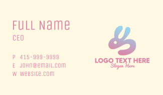 Abstract Rabbit Gradient Business Card