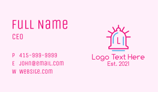Minimalist Bell Letter Business Card