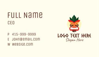 Tribal Tiki Mask Business Card