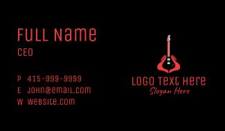 Guitar Hand Instrument Business Card