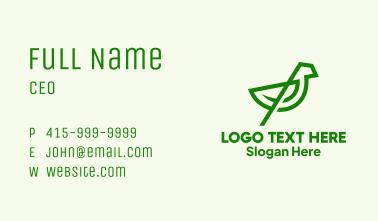 Green Bird Sanctuary Business Card