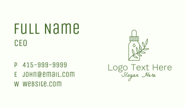 Herbal Medicine Container Business Card
