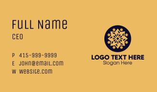 Golden Star Mandala Business Card