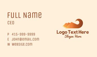 Orange Mountain Swirl Business Card