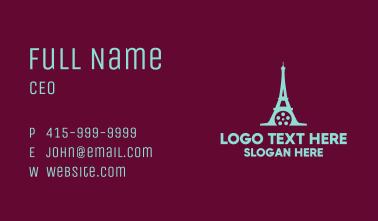 Paris Eiffel Tower Films Business Card