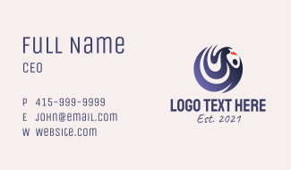 Swan Charity Emblem Business Card