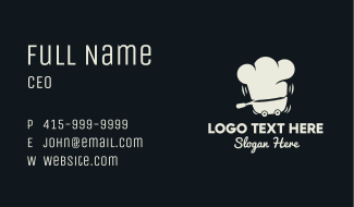 Chef Hat Food Truck  Business Card