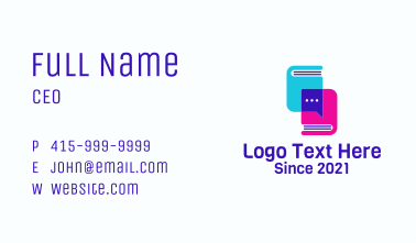 Text Book Chat Business Card