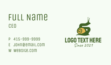 Land Snail Silhouette  Business Card