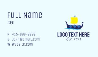 Ancient Viking Boat  Business Card