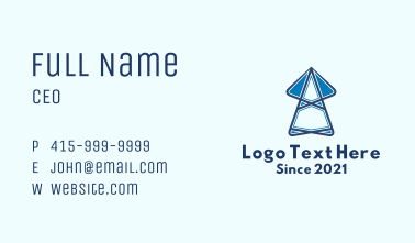 Blue Broadcasting Tower  Business Card