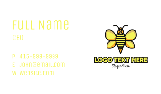 Yellow Wasp Outline Business Card