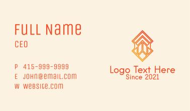 Orange Textile Pattern  Business Card