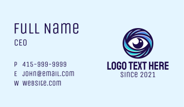 Round Optical Eye Business Card