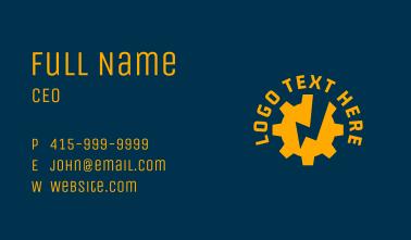 Electric Machinery Cogwheel  Business Card