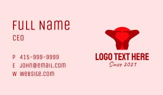 Red High Heels Business Card