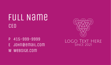 Geometric Grape Line Art  Business Card