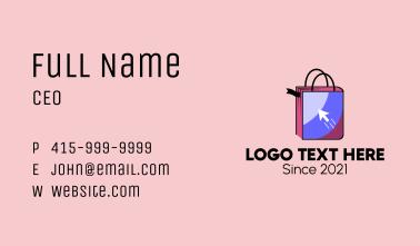Online Bookstore Shop Business Card