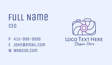 Geometric Spiral Camera Business Card