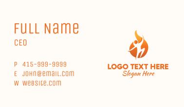 Human Fireball Fitness Business Card