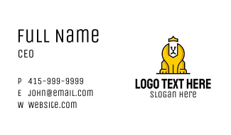 Lion Sphinx King Business Card