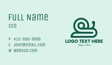 Green Snail Shell Business Card