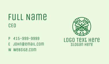 Geometric Lucky Clover  Business Card