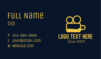 Yellow Beer Vlogger Business Card