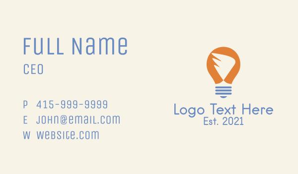 lighting - Wing Light Bulb Business card horizontal design