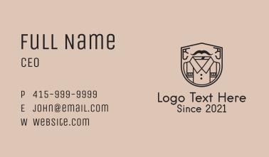 Shirt Shield Outline Business Card